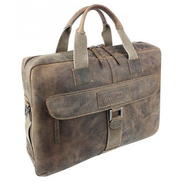 453aa6454071 Кожаный портфель на молнии Wenger W23-10Br ...